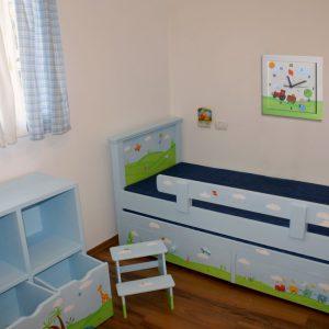 שעון לחדר ילדים טרקטור ופירות הדר