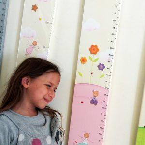 מד גובה לחדר ילדות. מד גובה מעוצב.