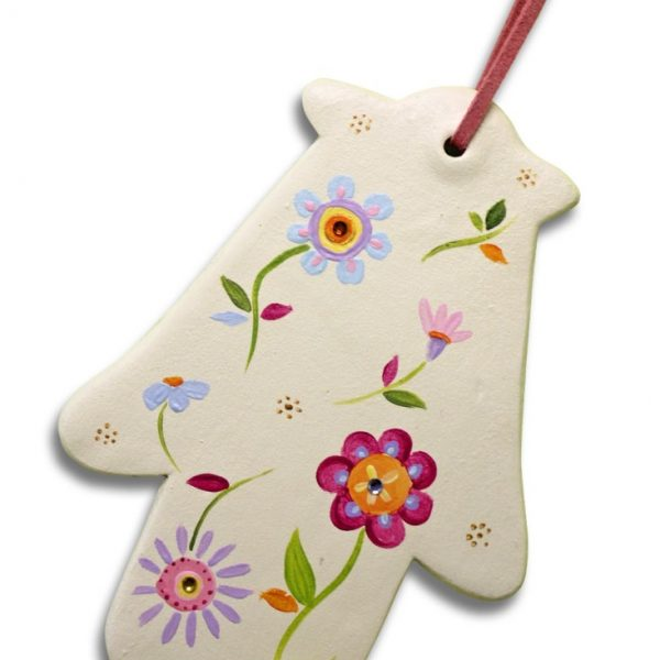 חמסה מעוצבת - פרחים צבעוניים