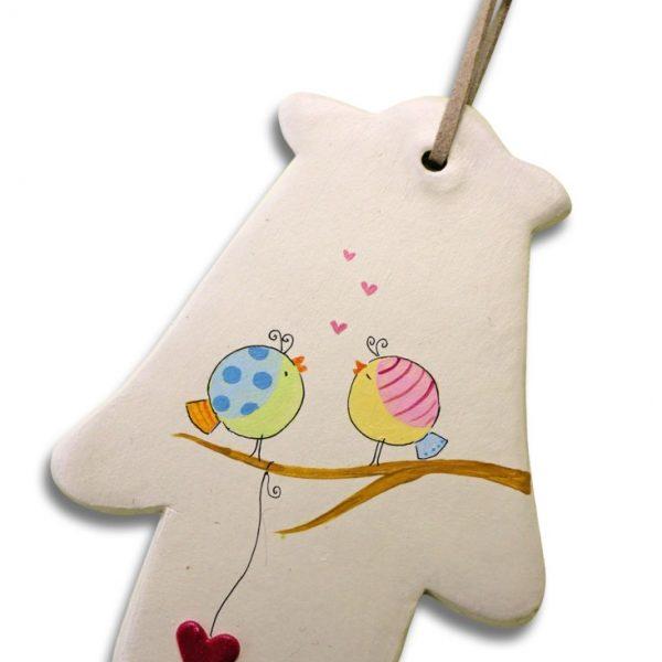 חמסה מעוצבת - ציפורי שיר מאוהבות