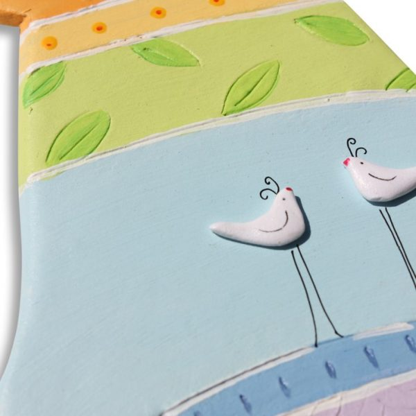 חמסה מעוצבת לבית – זוג ציפורים אוהבות