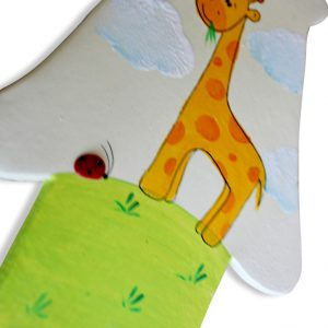 חמסה מעוצבת לחדר ילדים – ג'ירפה