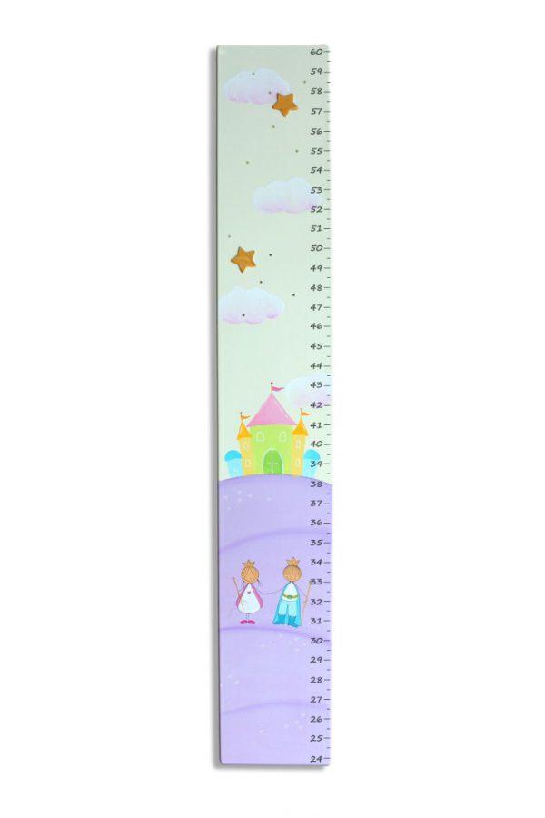 מד גובה מעוצב- נסיך ונסיכה בגווני סגול (העתק)