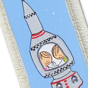 מזוזה לחדר ילדים - אסטרונאוטים בחלל החיצון