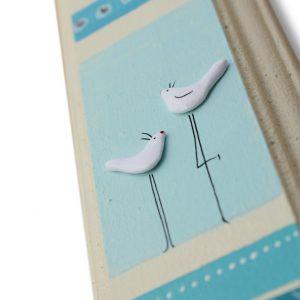מזוזה מעוצבת זוג ציפורים של שלום ותקווה