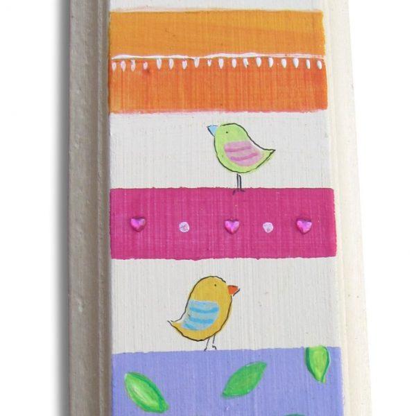 מזוזה לבית זוג ציפורים ברקע צבעוני