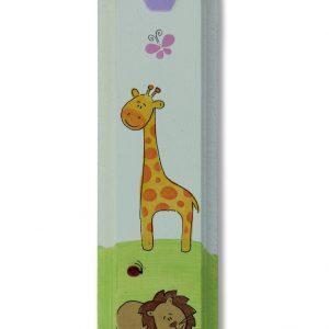 מזוזה לחדר ילדים בעיצוב ג'ירף ואריה