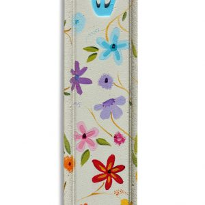 מזוזה בעיצוב פרחים צבעוניים