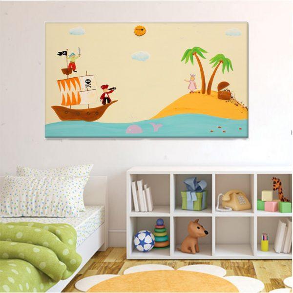 תמונה לחדר ילדים – נסיכה באי המטמון