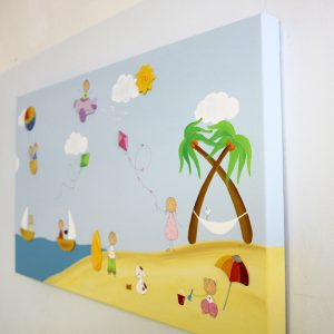 תמונה לחדר ילדים – ים וסירות מפרש