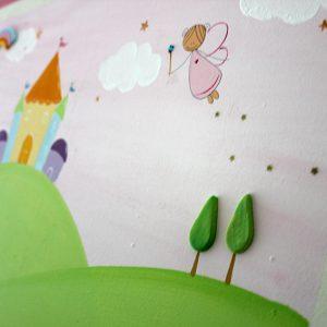 תמונה לחדר ילדות – פיות וארמון