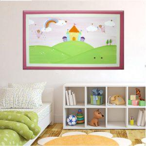 תמונה לחדר ילדות – פיות מקסימות מעל הארמון