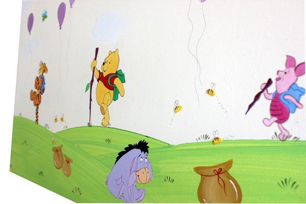 תמונה מעוצבת לחדר ילדים - פו הדב וחברים