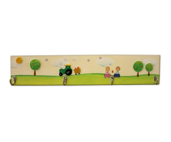 מתלה לחדר ילדים – ילדים עם עצי הדר