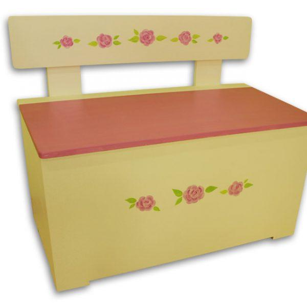ספסל לחדר ילדות בסגנון לורה אשלי