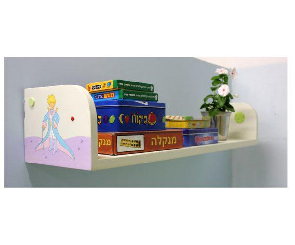 מדף מעץ לחדר ילדים בעיצוב הנסיך הקטן
