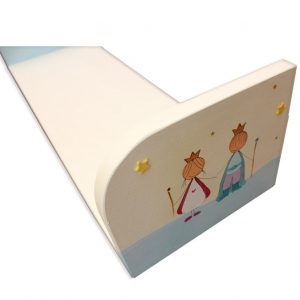 מדף מעוצב לילדים – נסיכה ונסיך