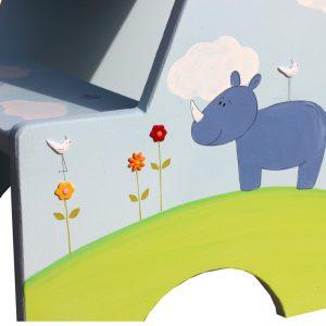 שרפרף לחדר ילדים בעיצוב היפופוטם בטבע