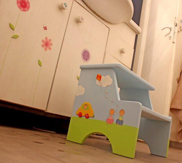 שרפרף לחדר ילדים - רכבת, אוטו וילדים