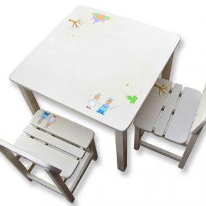 שולחן וכסאות לחדר ילדים - נסיכה, נסיך וארמון