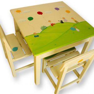 שולחן וכסאות לילדים - מעשה ב 5 בלונים