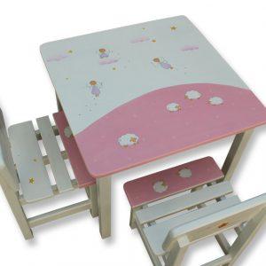 שולחן וכסאות לילדים - פיות וכבשים