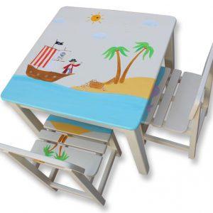 שולחן וכסאות לילדים - הפיראט והאוצר האבוד