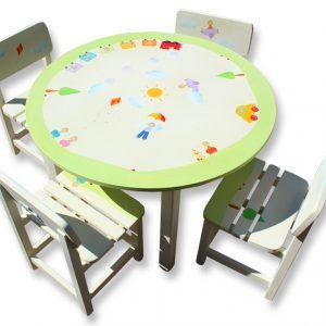 שולחן וכסאות מעוצבים לילדים - ילדים, רכבת, מכוניות ומצנחים