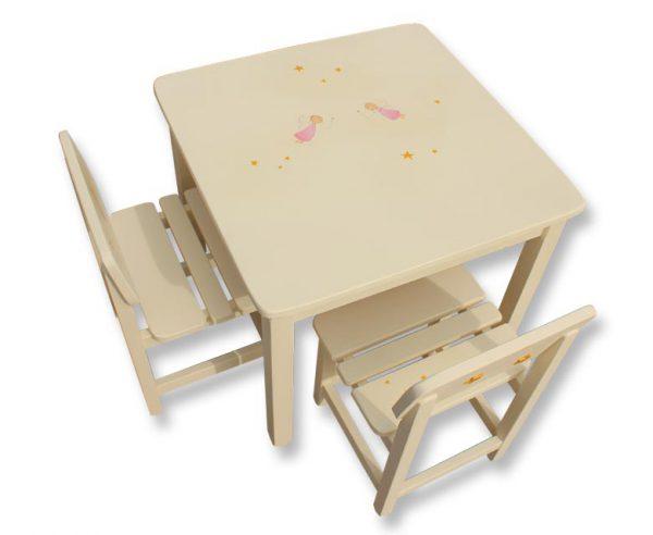 שולחן וכסאות לחדר ילדים - פיות וכוכבים