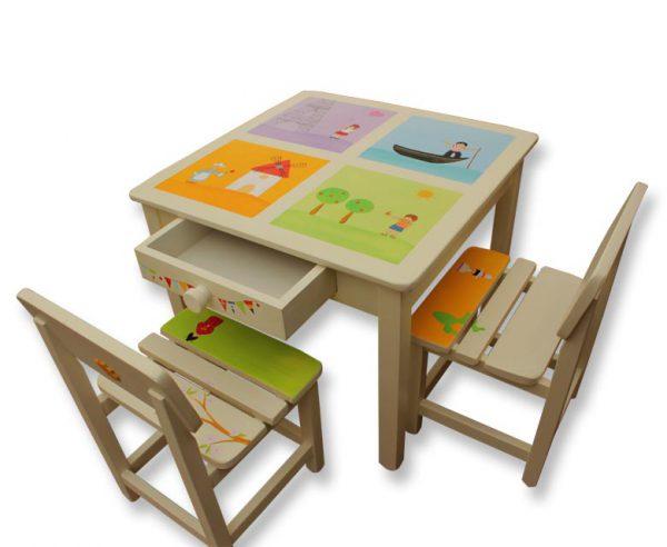 שולחן וכסאות לחדר ילדים - ילדי עולם-צרפת,איטליה,הולנד,ישראל