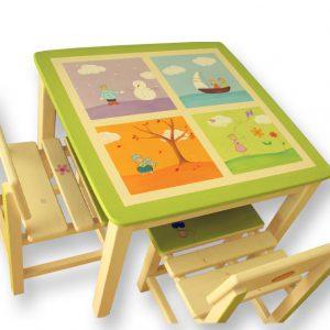שולחן וכסאות לחדר ילדים - 4 עונות השנה