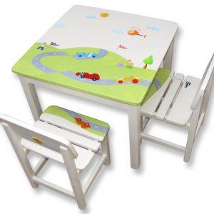 שולחן וכסאות מעוצבים לילדים - מכוניות מרוץ