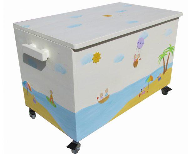 ארגז אחסון צעצועים – סירות בים הפתוח