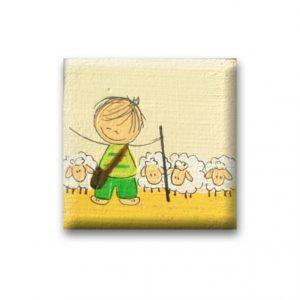 ידית מעוצבת מעץ –רועה הצאן