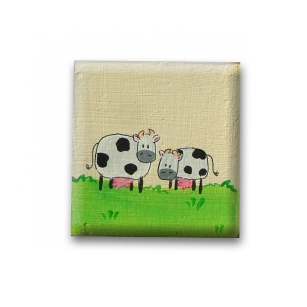 ידית מעוצבת מעץ – פרות באחו