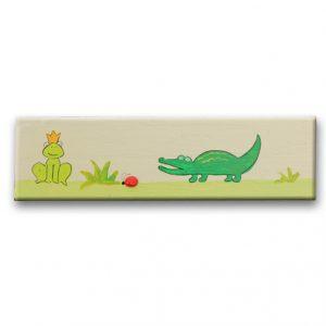 ידית לחדר ילדים - תנין וצפרדע