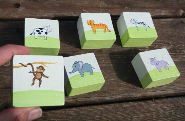 סט של 6 ידיות לחדר ילדים - חיות היער והמשק 1