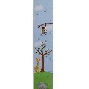 מד גובה מעוצב - ג'ירפות ופילים חיות הספארי
