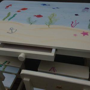 שולחן וכסאות מעוצבים לילדים - עולם המים הקסום 6