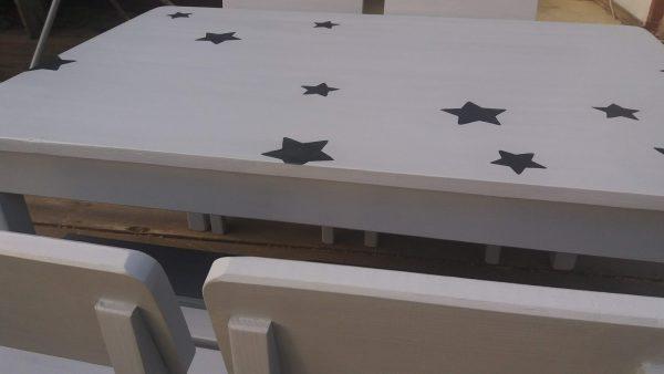 שולחן וכסאות לגן ילדים. דגם: כוכבים קסומים 4
