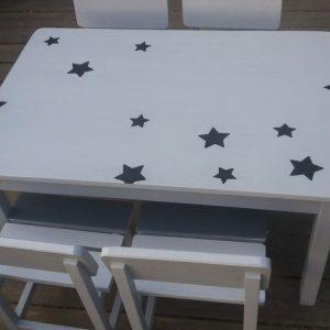 שולחן וכסאות לגן ילדים. דגם: כוכבים קסומים 6