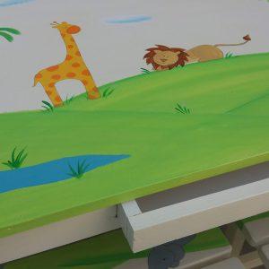 שולחן וכסאות מעוצבים לילדים - חיות ספארי מתוקות 4