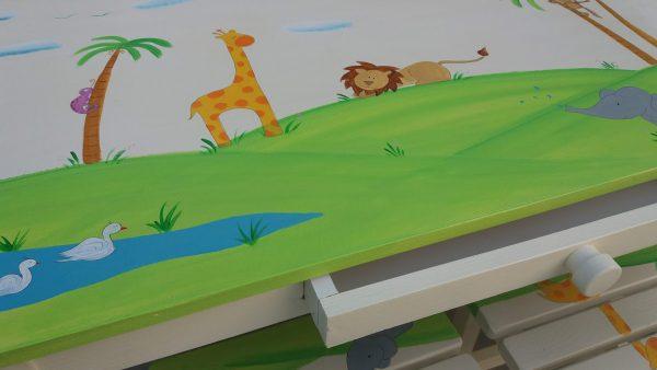 שולחן וכסאות מעוצבים לילדים - חיות ספארי מתוקות 2