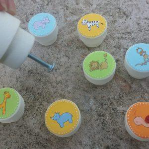 ידיות לחדר ילדים. דגם: חיות הג'ונגל 4