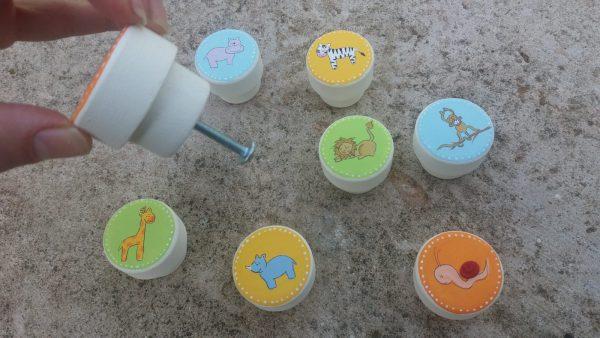 ידיות לחדר ילדים. דגם: חיות הג'ונגל 2