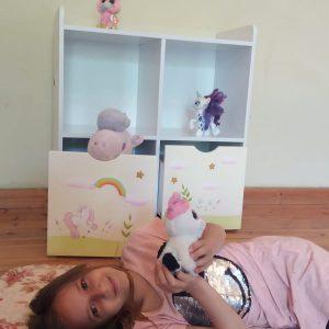 כוורת מעוצבת לחדר ילדים - דגם יוניקורן 5
