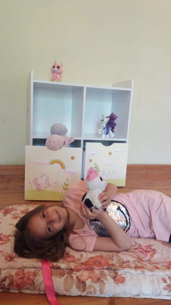 כוורת מעוצבת לחדר ילדים - דגם יוניקורן 3