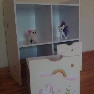 כוורת מעוצבת לחדר ילדים - דגם יוניקורן 4