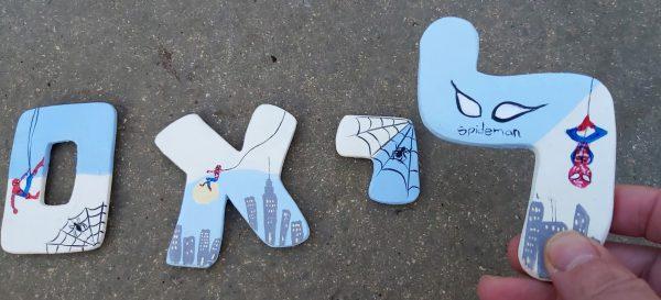 אותיות בעיצוב ספיידרמן - גיבורי על 2
