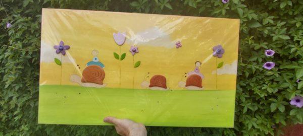 תמונה לחדר ילדים – שבלולים ופרחים - מבצע #סגרפסח2020 1